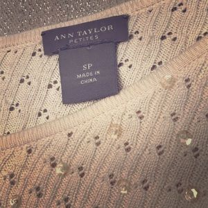 Ann Taylor SP sweater beaded sparkle elegant